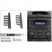 Переходная рамка AWM 781-02-216 для Kia Cerato 2004-2008, Magentis 2005-2010, 2 DIN