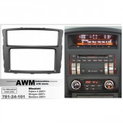 Переходная рамка AWM 781-24-101 для Mitsubishi Pajero 4, Shogun, Montero (2007+), 2 DIN