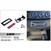 Переходная рамка AWM 781-24-102 для Mitsubishi L200, Triton, Pajero Sport II, Pajero Dakar, Challenger, 1 DIN