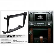Переходная рамка AWM 781-07-039 для Toyota Land Cruiser Prado 150 (2013+), 2 DIN