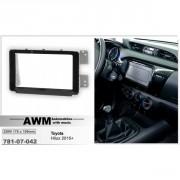 Переходная рамка AWM 781-07-042 для Toyota Hilux 2015+, 2 DIN