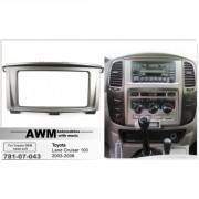 Переходная рамка AWM 781-07-043 для Toyota Land Cruiser 100 (2003-2008), 2 DIN
