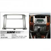 Переходная рамка AWM 781-07-045 для Toyota Land Cruiser 100 (2003-2008) / Lexus LX-470 (1998-2007), 2 DIN