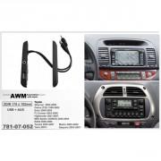 Переходная рамка (боковые вставки) AWM 781-07-052 с AUX и USB разъемом для Toyota, 2 DIN