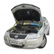 Амортизаторы капота (газовые упоры капота) Euro-Upor EU-NI-ALM-02-2 для Nissan Almera B10 (2006-2013) 2шт