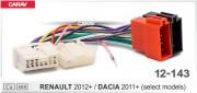 Переходник / адаптер ISO Carav 12-143 для подключения магнитолы в Renault 2012+ / Dacia 2011+