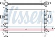 Радиатор охлаждения двигателя NISSENS 630744
