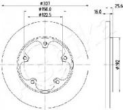 Тормозной диск ASHIKA 61-00-0313