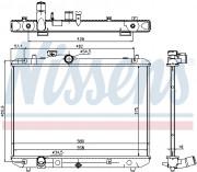 Радиатор охлаждения двигателя NISSENS 69400