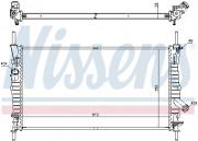 Радиатор охлаждения двигателя NISSENS 62128