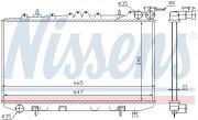 Радиатор охлаждения двигателя NISSENS 62421