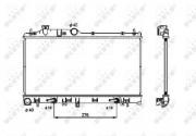 Радиатор охлаждения двигателя NRF 53700