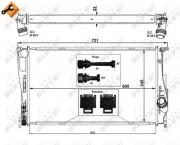 Радиатор охлаждения двигателя NRF 53472