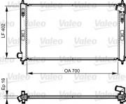 Радиатор охлаждения двигателя VALEO 735575