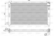 Радиатор охлаждения двигателя VALEO 701577