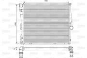 Радиатор охлаждения двигателя VALEO 701563