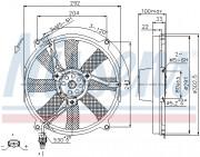 Вентилятор охлаждения радиатора NISSENS 85702