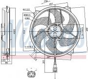 Вентилятор охлаждения радиатора NISSENS 85790