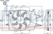 Вентилятор охлаждения радиатора NISSENS 85342