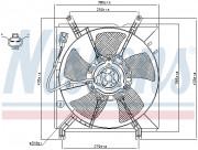 Вентилятор охлаждения радиатора NISSENS 85238