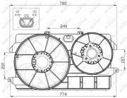 Вентилятор охлаждения радиатора NRF 47452