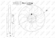Вентилятор охлаждения радиатора NRF 47064