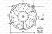 Вентилятор охлаждения радиатора VALEO 696850