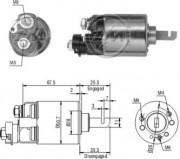 Втягивающее реле стартера ZM ZM604