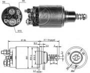 Втягивающее реле стартера ZM ZM653