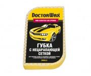 Губка с нецарапающей сеткой для мойки авто и колес Doctor Wax DW8632