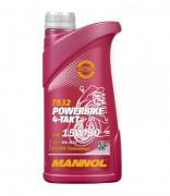 Мотоциклетное моторное масло Mannol 7832 4-Takt Powerbike 15W-50