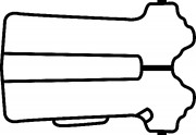 Прокладка клапанной крышки CORTECO 026686P