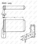 Радиатор печки NRF 58623