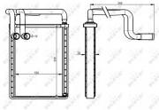 Радиатор печки NRF 54336