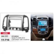Переходная рамка Carav 11-716 для Hyundai Santa Fe 2006-2012, 2 DIN