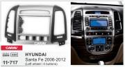 Переходная рамка Carav 11-717 для Hyundai Santa Fe 2006-2012, 2 DIN