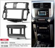 Переходная рамка Carav 11-339 для Toyota Land Cruiser Prado 150 (2009-2013), 2 DIN