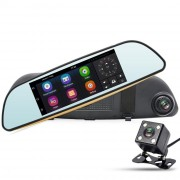 Зеркало заднего вида RS DVR-405F с монитором, видеорегистратором, Wi-Fi, Bluetooth, GPS (Android 5.0)