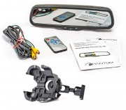 Phantom Штатное зеркало заднего вида с монитором и видеорегистратором Phantom RMS-430 DVR Full HD-105 для VW Tiguan