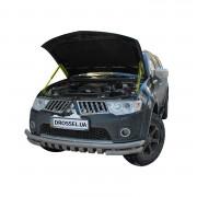 Амортизаторы капота (газовые упоры капота) Euro-Upor EU-MI-PSP-02-02 для Mitsubishi Pajero Sport 2, L200 (2008-2016) 2шт