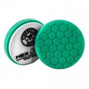 Зеленый пенополиуретановый полировальный круг (жесткость №3) Chemical Guys Hex-Logic Премиум