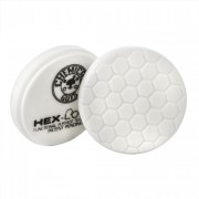 Белый пенополиуретановый полировальный круг (жесткость №4) Chemical Guys Hex-Logic Премиум