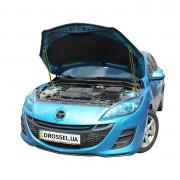 Амортизаторы капота (газовые упоры капота) Euro-Upor EU-MA-3-02-2 для Mazda 3 BL (2009-2013) 2шт