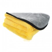 Микрофибровое двухстороннее полотенце (серо-желтое) Chemical Guys Microfiber Max Soft Touch Detailing Towel