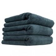 Черное микрофибровое полотенце Chemical Guys Monster Edgeless Microfiber Towel