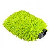 Варежка с длинным ворсом зеленого цвета `Синель` Chemical Guys Chenille Microfiber Premium Scratch-Free Wash Mitt