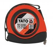 Рулетка Yato YT-7103 с нейлоновым покрытием и магнитами (3м)