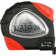 Рулетка Yato YT-71181 / YT-71184 с нейлоновым покрытием и магнитами (3м, 8м)