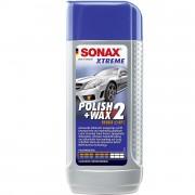 Полироль №2 с повышенным абразивным эффектом и воском Sonax Xtreme Polish+Wax 2 NanoPro 207100 (250мл)