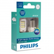 Комплект светодиодов Philips Ultinon LED (P21W / BA15S) 11498ULWX2, 11498ULRX2, 11498ULAX2